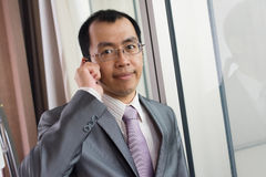 Business ceo using cellphone Stock Photography