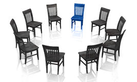 Business chairs in circle Stock Images