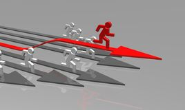 Business challenge. 3d business challenge illustration - arrows Royalty Free Stock Photo