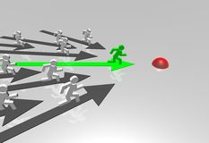 Business challenge. 3d business challenge illustration - arrows Stock Photography