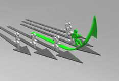 Business challenge. 3d business challenge illustration - arrows Royalty Free Stock Image
