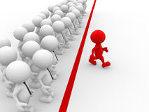 Business challenge. 3d people - men, person in group. Business challenge.  Leadership and team Stock Images