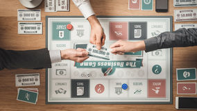 Business challenge board game Stock Images