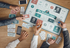 Business challenge board game Royalty Free Stock Photography