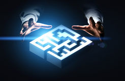 Business challenge concept with maze Stock Image