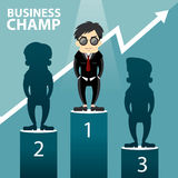 Business Champ Vector Illustration Royalty Free Stock Photo