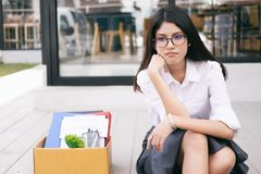 Change of job, unemployment, resigned concept stock image