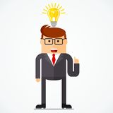 Business character idea Royalty Free Stock Photo