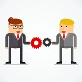 Business character interaction Royalty Free Stock Photo