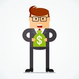 Business character investment Royalty Free Stock Images