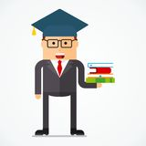 Business character knowledge Stock Photos