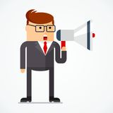 Business character message Royalty Free Stock Photo
