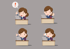 Business character. At the office, business women Royalty Free Stock Photo
