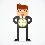 Business character plans Stock Images