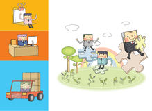 Business character Series. Flat design vector illustration character of business Stock Photos