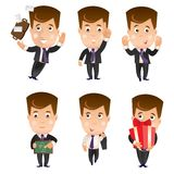 Business character set Royalty Free Stock Photography