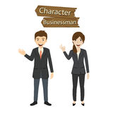 Business character set vector illustration Royalty Free Stock Image