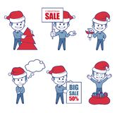 Business  Characters boys for holiday sale banner. Stock Image