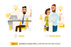 Business characters in circle. Stock Image