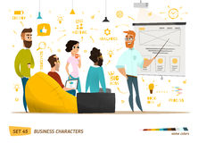 Business characters collection Royalty Free Stock Photo