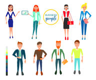 Business characters. Design Set with Employees. Vector Illustration. Royalty Free Stock Images