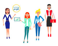 Business characters. Design Set with Employees. Vector Illustration. Stock Images