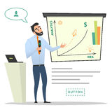 Business characters. Project presentation. Stock Images
