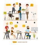 Business characters scene Royalty Free Stock Images