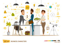 Business characters scene Royalty Free Stock Image