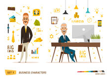 Business characters scene. Stock Photos