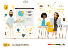 Business characters scene. royalty free illustration