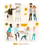 Business characters scene. Royalty Free Stock Image