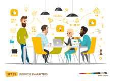 Business Characters Set Royalty Free Stock Photos