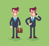 Business characters set. Vector flat. Stock Image
