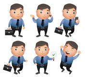 Business characters vector set with different gestures and posture Royalty Free Stock Photography