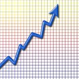 Business Chart. A 3 dimensional chart with arrow stock illustration