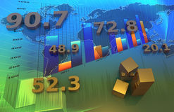 Business chart. Financial and business chart and graphs Stock Photography