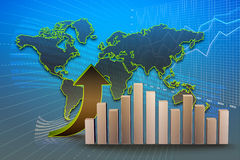 Business chart. Financial and business chart and graphs Royalty Free Stock Photo