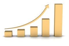 Business chart. (high resolution 3D image Stock Photos