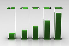 Business chart. (high resolution 3D image Stock Photo
