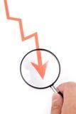 business chart Arkivfoto