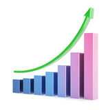 Business chart 3d. Over white background Stock Image