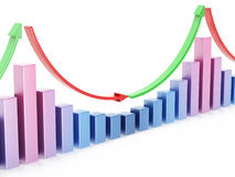 Business chart 3d Royalty Free Stock Photo