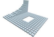 Business chart 3D rows of financial blocks. A business bar chart symbol of success and growth, with copyspace in 3D rows of financial blocks Stock Photography