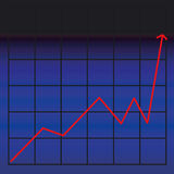 Business chart. Showing success Stock Images