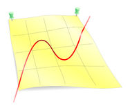 Business chart. Pixelization from 2D Stock Image