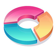 Business chart. Color pie chart in the white background Stock Photo