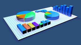 Business Chart animation Royalty Free Stock Images