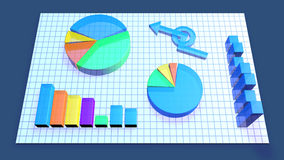 Business Chart animation Royalty Free Stock Image