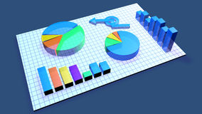 Business Chart animation. 3D rendered Illustration of a generic business Chart.r Royalty Free Stock Photo